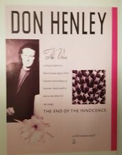 Don Henley The Eagles magazine print ad for album end of the innocence 22x30cm