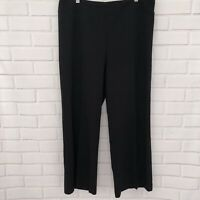 Ann Taylor Black Wide-Leg Pants Trousers Slacks Size XL Pull On Stretch