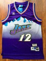 John Stockton #12 Utah Jazz Retro Classic Purple Swingman Jersey NEW