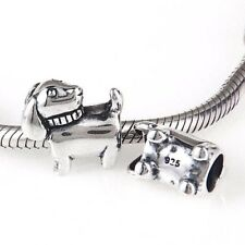 Dog 925 Sterling Silver Charm Bead