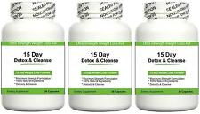 15 DAY DETOX & CLEANSE DIET PILLS FAT BURNING AID WEIGHT LOSS TABLETS CLEANSER