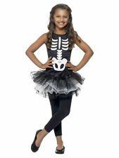 Child Skeleton Tutu Party Costume Halloween Fancy Dress Children Girls Medium Age 7-9 Years