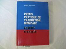 Van Hoof, Henri Precis Pratique De Traduction Medicale Anglais Francais
