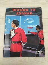 Star Trek Return to Axanar Support Booklet - FASA