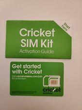 Cricket Wireless Prepaid Universal Sim Card Kit - Cell Phone