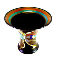 grosse Keramik Trompetenvase - Gouda Holland - sehr schön
