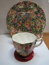 ROSINA CHINTZ TEACUP, SAUCER AND PLATE
