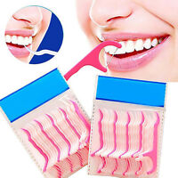 25-250Pcs Dental Floss Pick Teeth Toothpicks Stick Oral Care Tooth Clean Brief