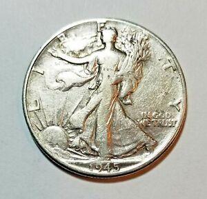 1945 Walking Liberty Silver Half Dollar ~Philadelphia Mint    #B86
