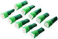 10x GRÜNE SMD LED T5 w1.2w Tachobleuchtung Instrumenten Beleuchtung Lampe grün