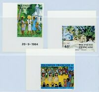 French Polynesia 1984 Paintings Imperforate MNH X656