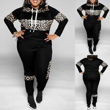 Damen Trainingsanzug Pullover Hose Sportanzug Fitness Jogginganzug Übergröße DE