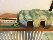 décor jouef tunnel et maison / gare  jeu jouet ancien trains circuit