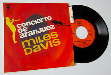 "MILES DAVIS *CONCIERTO EN ARANJUEZ* 7"" FRENCH PS PICTURE SLEEVE"