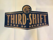 New ListingCoors Third Shift Beer Band Of Brewers Metal Beer Sign Tin Tacker New 14x24 .
