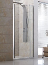 Bathroom Adjustable Wall to Wall Shower Screen Panel 830-900mm Front ONLY