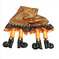 Halloween Witch Legs Orange Table Runner 12x74 inches