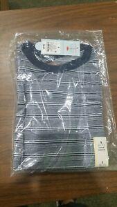 Boys T-SHIRT Small 6-7 (2) Long Sleeve Striped Pocket KIDS Shirt NWT Cat & Jack