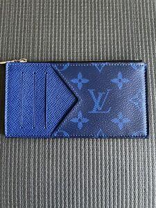 Louis Vuitton Cobalt Blue Taigarama Coin Card Holder