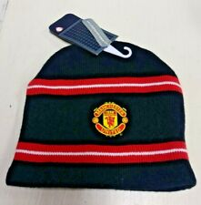 Vintage Nike Manchester United Soccer  2001 Beanie Black / Red / White with Tags