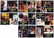 LA PRINCIPESSA NUDA SET FOTOBUSTE 8 PZ. AJITA WILSON EROTICO SEX 1976 LOBBY CARD