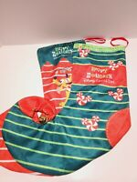 Lot Of 2 Disney Cruise line Exclusive Elf Christmas Stockings Mickey Pluto 20""