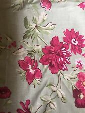 Pottery Barn Linen/Cotton Standard Pillow Shams - Green/Pink Floral - Set Of 2