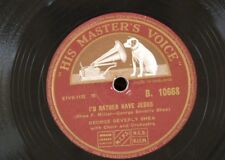 78rpm GEORGE BEVERLY SHEA i`d rather have jesus / tenderley he watches