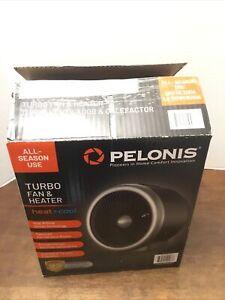 Pelonis Turbo Fan & Heater Heat & Cool Black PSF10M6ASB All Season Use In Box
