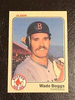 1983 Fleer Wade Boggs Card #179 EX-NM HOF Boston Red Sox