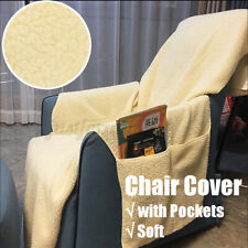 Recliner Cashmere Chair Cover Furniture Protector & Remotes Cellphones new