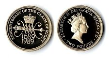 1989 Royal Mint Claim of Rights Proof Two Pound £2 Coin