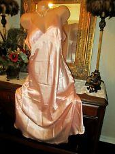Jones New York Peach sissy satin long nightgown gown dress Lingerie XLarge NWOT