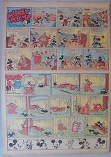 Mickey Mouse Sunday Page by Walt Disney from 6/25/1939 Tabloid Page Size