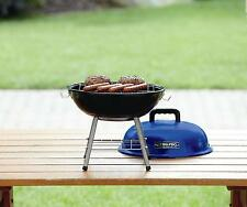 """Camping Travel Mini Small Grill BBQ Pro 14"""" Tabletop Charcoal Grill weber Blue"""