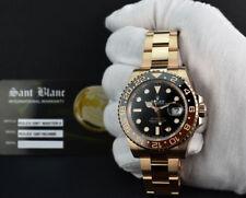 ROLEX - 18kt Rose Gold GMT Master II Black Brown CERAMIC 126715 CHNR- SANT BLANC