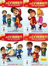 4 DVDs * ALVIN UND DIE CHIPMUNKS - TV-SERIE 1 - 4 IM SET - Animation # NEU OVP &