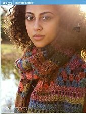 Berroco Lodge #322 Knitting & Crochet Pattern Book - 9 designs Women Hats Scarf+