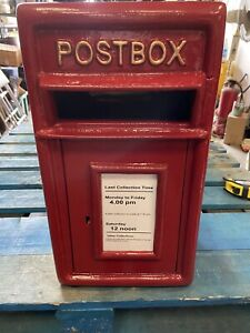 Postbox Letter Post Box - Cast Iron Post Office Red - Medium - Rear/Wall Mount