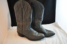Vintage Manson 8 1/2 E Grey Leather Cowboy Western Boots