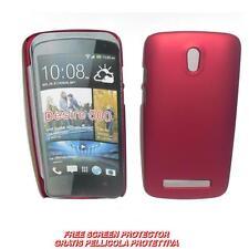 Pellicola+custodia BACK COVER RIGIDA ROSSA per HTC Desire 500 (A1)