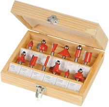 12 Piece 1/2inch High Quality TCT Router Bit Set With Wooden Case