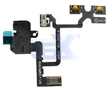 Black Headphone Jack Flex Cable for Iphone 4 GSM ATT Volume Button/silent switch