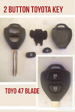 For Toyota Yaris/ Auris 2 BUTTON REMOTE KEY case/shell with blade TOY47 type