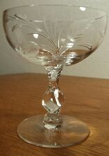 Tiffin Franciscan LADY CAROL Etched Crystal Tall Sherbet Glasses Set Of 4