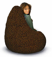 Adult Leopard print FUR bean bag