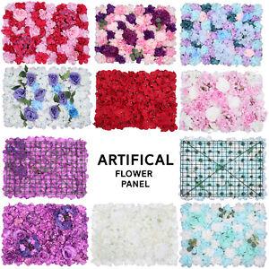 Hydrangea Artificial Fake Velvet Flower Bouquet Wall Panel Wedding Party Decor