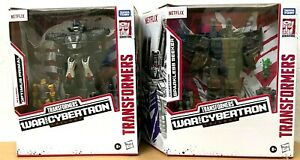 IN HAND HASBRO TRANSFORMERS NETFLIX OPTIMUS PRIMAL, SPARKLESS SEEKER VOYAGER SET