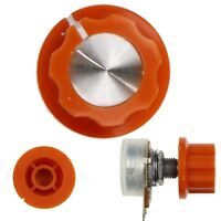 Orange Potentiometer Knobs / Volume Amp Dial for 6mm Splined Shaft Pot