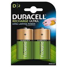 2 Batterie torcia torcione D RICARICABILE ACCU DURACELL 3000 mAh RICARICABILI